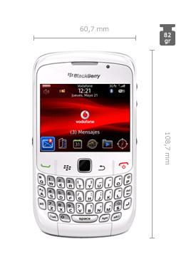 BlackBerry 8520 blanca, en puntos Vodafone