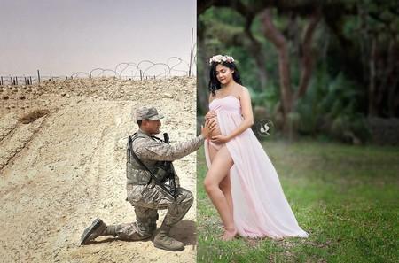 Consiguen aparecer juntos en una sesión de fotos del embarazo pese a la distancia