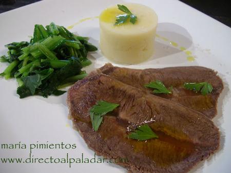 Receta de vaca con patatas al aroma de apio