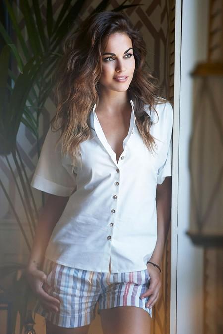 Camisa Lino White Nina