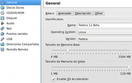 VirtualBox 2.2 - configuración