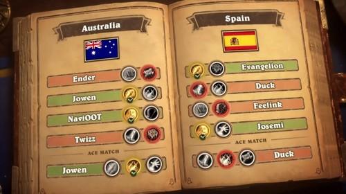 España pierde ante Australia y está virtualmente fuera de los Hearthstone Global Games