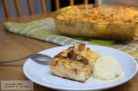 Pastel de pan y manzanas. Receta para San Valentín
