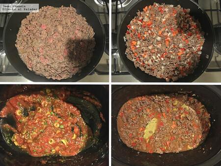 Cómo hacer picadillo en olla de cocción lenta. Receta fácil de comida casera méxicana