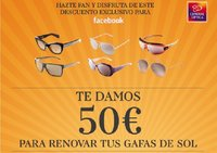 Consigue 50 euros para unas gafas de sol en General Optica