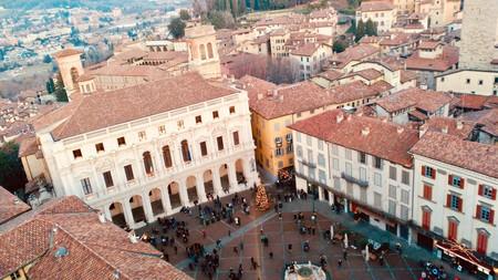 Piazza Vecchia desde la Campanone