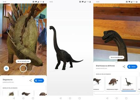 3D Google Dinosaurs