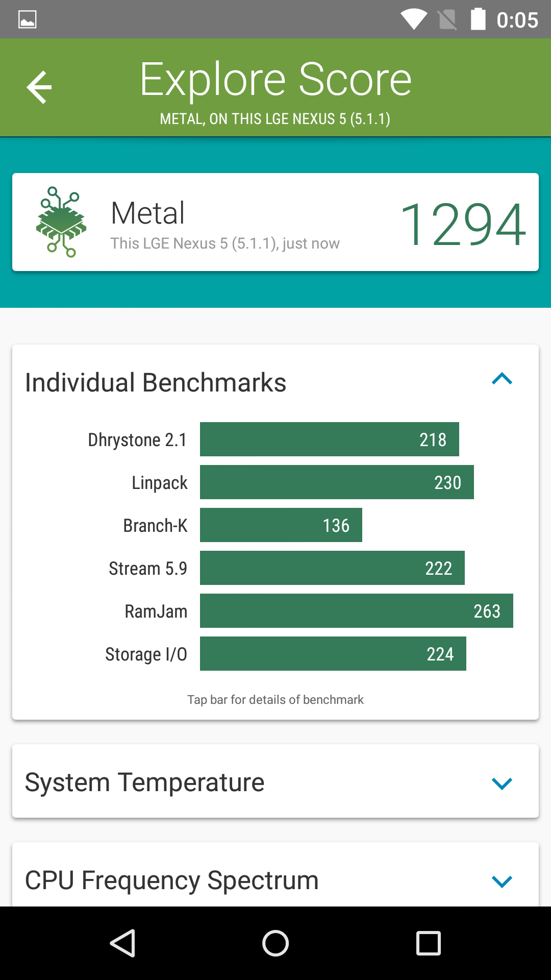 Foto de Benchmarks Nexus 5 Android 5.1.1 (13/43)