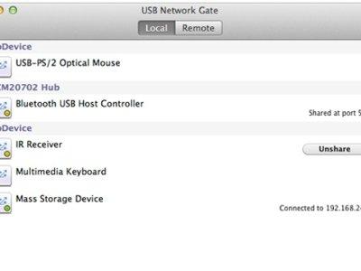 USB Network Gate te permite utilizar un dispositivo USB desde otro ordenador