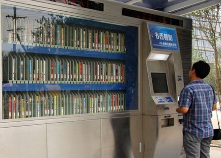 Pekín se apunta a las máquinas expendedoras de libros