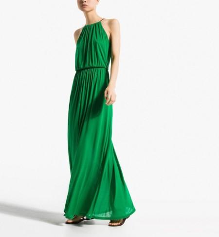 vestido massimo dutti verde