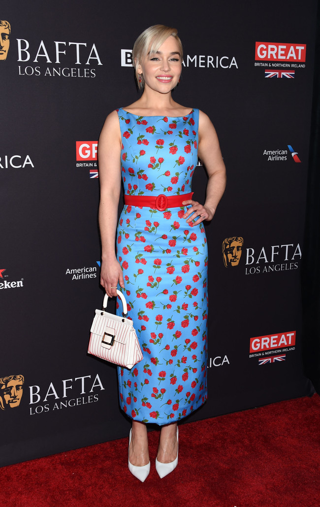 tea party bafta alfombra roja Emilia Clarke