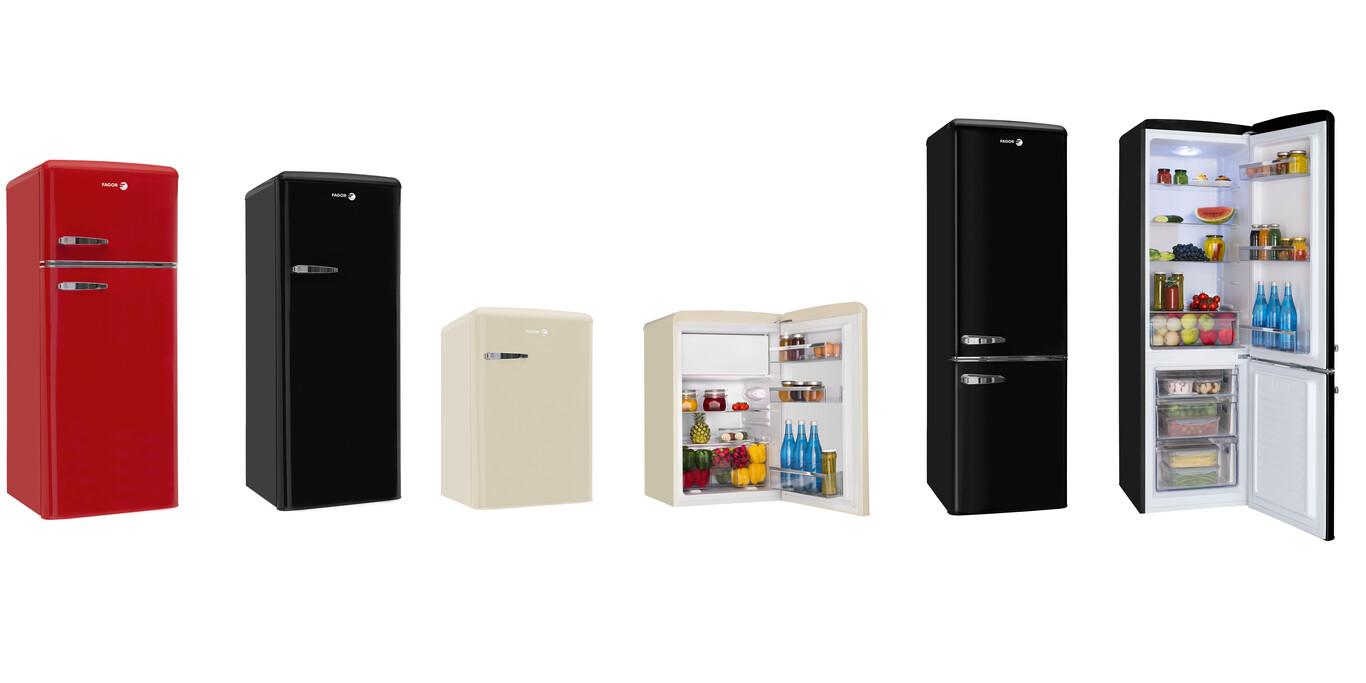 Fagor presenta cuatro nuevos frigoríficos con aire retro: además de enfriar, sirven para dar un toque distinto a la cocina