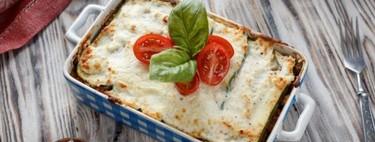 Lasaña de vegetales y queso sin pasta. Receta vegetariana sencilla