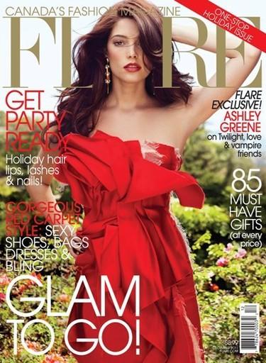 ¡Madre del amor bendito con Ashley Greene en la portada de Flare!