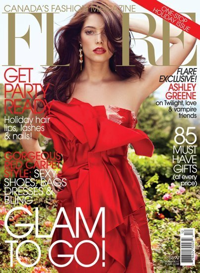 ¡Madre del amor bendito con Ashley Greene en la portada de Flare!