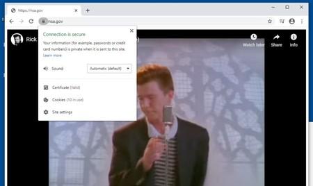 Demuestran cómo puede ser explotada la grave vulnerabilidad descubierta en Windows 10 'rickrolleando' la supuesta web de la NSA