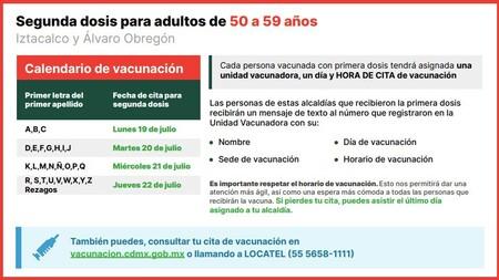 Vacunacion Covid Cdmx 50 59 Anos Sedes Fechas