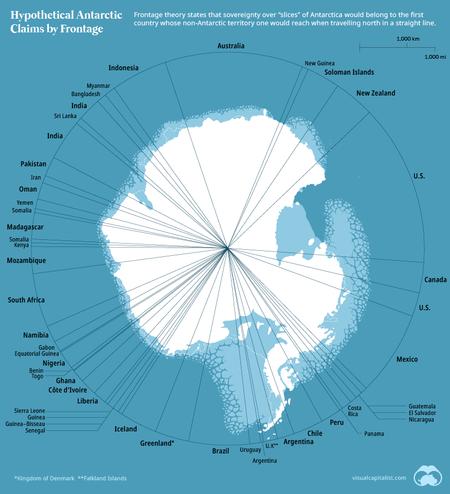 Distribución hipotética de la Antártida.