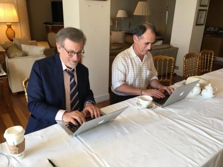 Steven Spielberg y Mark Rylance en Cannes