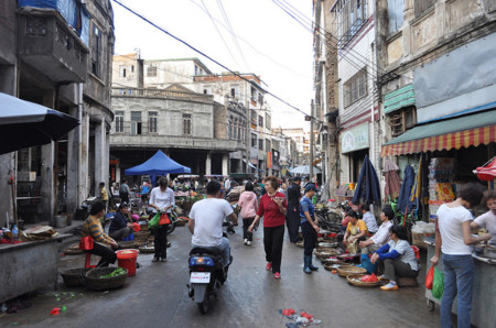 Shopping Street In Boai Lu Area Haikou