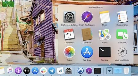 Cómo crear una carpeta con las apps recientes en el Dock de nuestro Mac