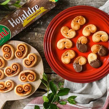 Palmeritas de hojaldre dulces y saladas: imposible resistirse a ellas