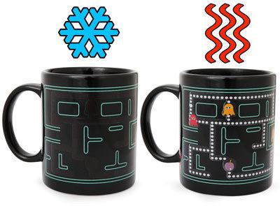 Heat Changing Arcade Mugs, tazas que mutan con el calor
