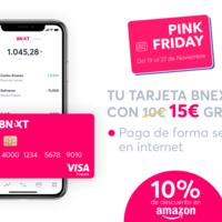 Black Friday Bnext: 10% de descuento en Amazon y 15 euros gratis al activar tu tarjeta