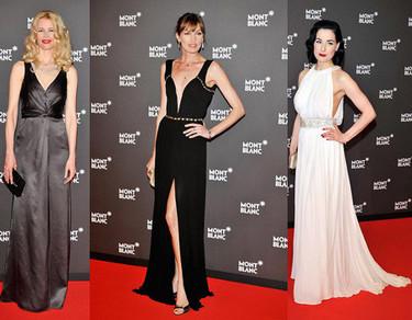 Claudia Schiffer, Dita Von Teese y Nieves Alvarez con Montblanc