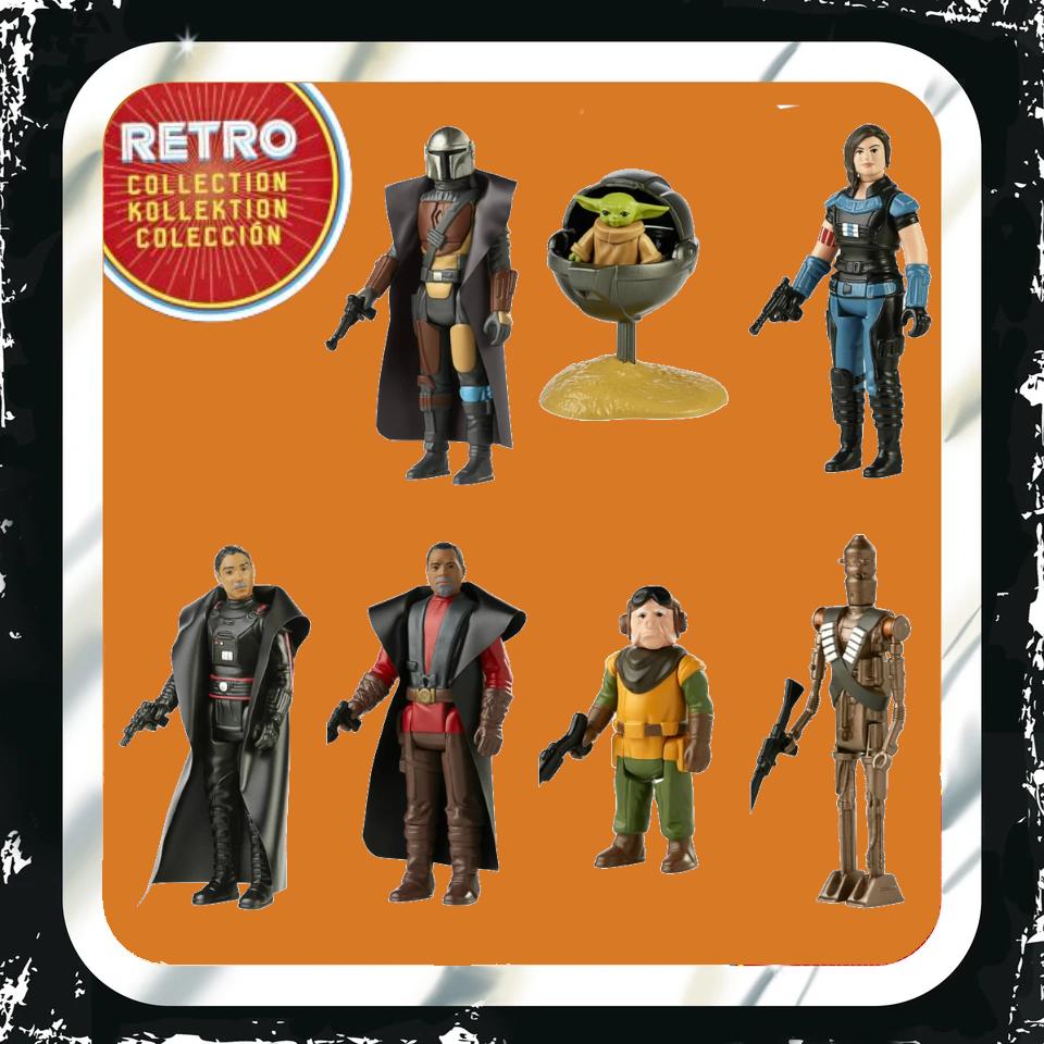 Figuras Star Wars colección Retro - The Mandalorian