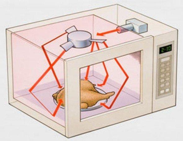 Los hornos microondas no cocinan 'de dentro hacia fuera' Entonces ¿qué parte de la comida se cocina antes?