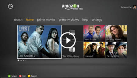 "Amazon ""mete"" su servicio de streaming de vídeo en la Xbox 360"