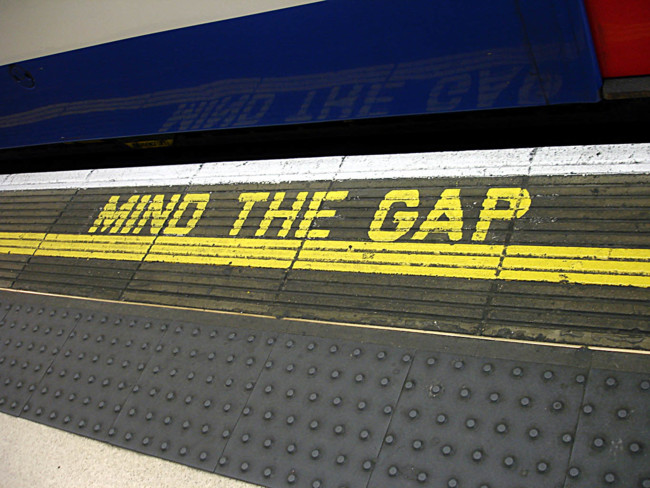 Bakerloo Line Waterloo Mind The Gap