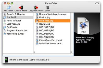 iPhoneDrive, para usar el iPhone como un disco duro
