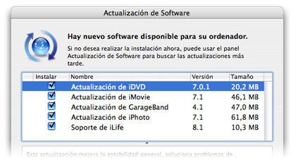 Actualización de iLife'08 con nuevas características