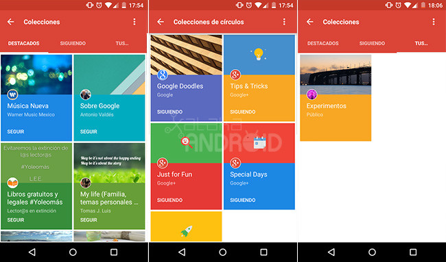 Google Plus Colecciones