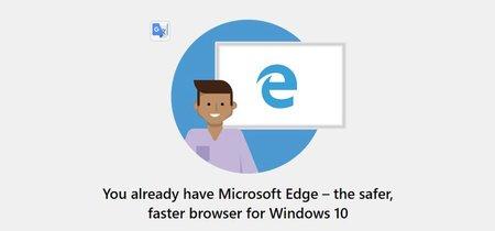 Un mensaje para proteger Edge aparece en la Build 10809 de Windows 10 cuando intentamos instalar Chrome o Firefox