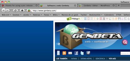 Firefox añade la posibilidad de navegar con las pestañas en la parte superior