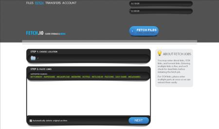 Fetch.io, descarga archivos de Megaupload, Rapidshare y demás a la nube y reprodúcelos desde ahí