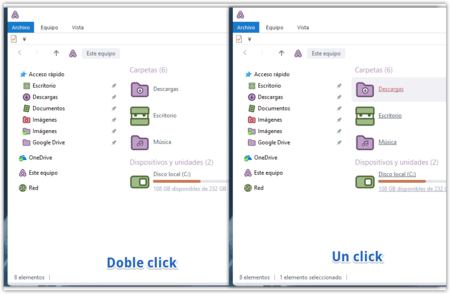 Doble Click Vs Un Solo Click