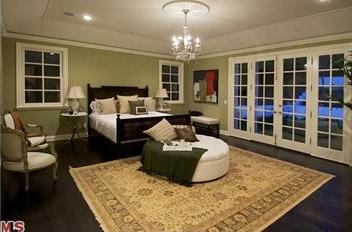 El dormitorio de Patrick Dempsey.