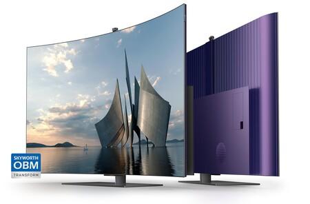 SKYWORTH lanza el W82, un televisor OLED que muestra cómo deberían haber sido desde un principio las pantallas curvas