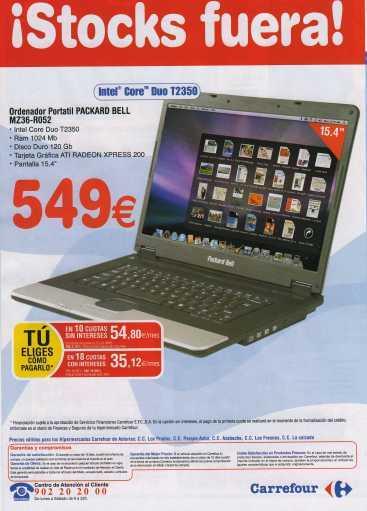 Packard Bell con Leopard en Carrefour