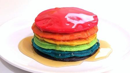 Receta Facil Ideas Lunch Saludables Regreso A Clases Hot Cakes Arcoiris