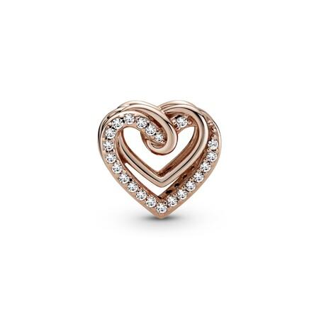Pandora Charm Corazones Brillantes Entrelazados En Pandora Rose 59eur 2