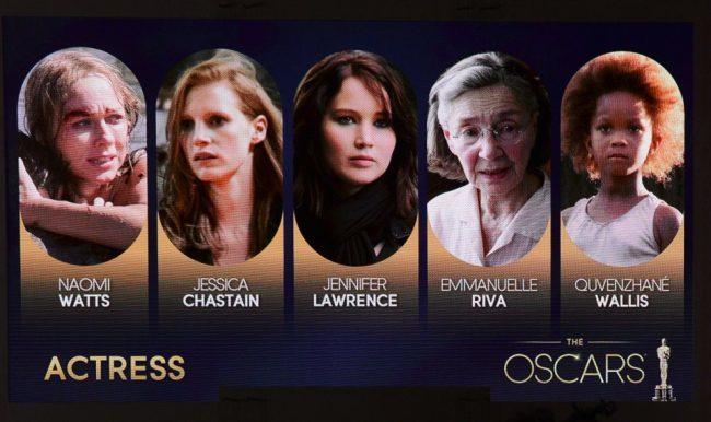 Las mejores actrices de los Oscar 2013