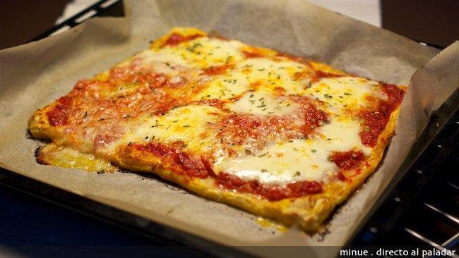 Tarta tatin mozzarella - presentación