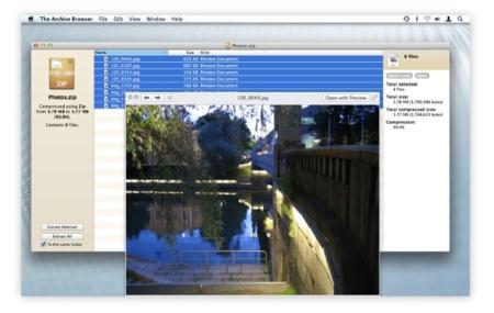 The Archive Browser, la versión vitaminada de The Unarchiver