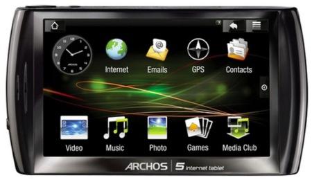 Archos 5 con Android: imágenes y precios